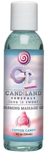 Candiland Sensuals Warming Massage Gel - Cotton Candy - 4 Oz