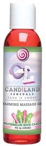 Candiland Sensuals Warming Massage Gel - Watermelon Rock Candy - 4 Oz