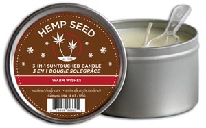 3-In-1 Warm Wishes Suntouched Candle With Hemp - 6 Oz