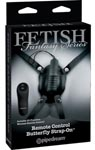 Fetish Fantasy Series Remote Control Butterfly Strap-On - Black