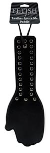 Fetish Fantasy Series Leather Spank Me Paddle - Black