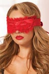 Satin Eye Mask - Red
