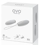 OVO R1 Silicone Rechargeable Bullet With Wireless Remote Showerproof White and Chrome