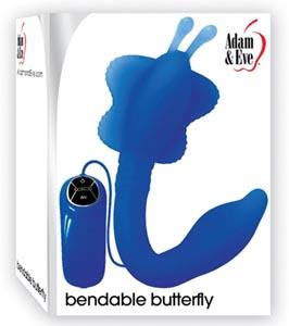 Adam & Eve Bendable Butterfly - Blue