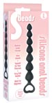9's Beads Silicone Anal Beads - Black