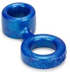 Lowball Cockring With Attached Ballstretcher - Blue