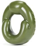 Grip Cockring Fat Padded U-Shaped Cockring - Army