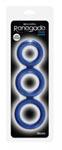 Renegade Triad Cock Ring - Blue