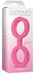 Platinum Premium Silicone The Cuffs - Large - Pink