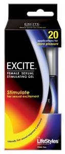 Lifestyles Excite Female Sexual Stimulating Gel - 15ml / .5 Oz.