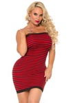 Cocolicious Hot Coco Tube Dress - Red/Black - One Size