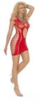 Opaque Mini Dress - Red - One Size