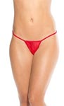 Low Back Tee Thong - Red - One Size