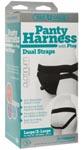 Vac- U- Lock Panty Harness With Plug - Dual Strap - L/ Xl