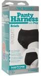 Vac- U- Lock Panty Harness With Plug - Briefs - L/ Xl