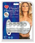 Cyberskin Pearl Pleasure Comfort Grip Stroker With Orgasm Balls