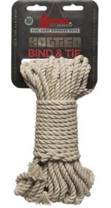 Bind & Tie Hemp Bondage Rope - 50 Ft