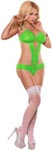 Cutout Teddy - Neon Green - Large-Extra Large