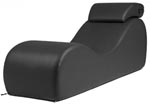 Liberator Black Label Esse Chaise - Faux Leather Midnight Black