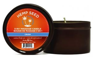 3-in-1 Crush Candle With Hemp - 6 Oz.