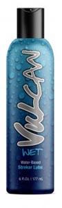 Vulcan Wet Water-Based Stroker Lube - 6 Fl. Oz.