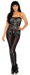 Semi- Opaque Skeleton Bodystocking - One Size