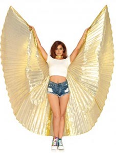 360 Degree Pleated Isis Wings - One Size