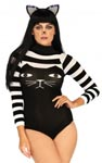 Striped Cat Bodysuit - One Size