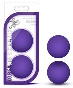 Luxe Double O Beginner Kegel Balls - Purple