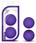 Luxe Double O Beginner Kegel Balls - Purple