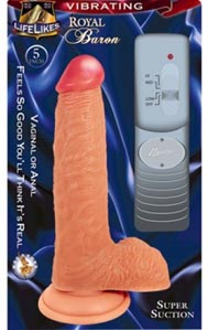 Lifelike Vibrating Flesh Royal Baron 5