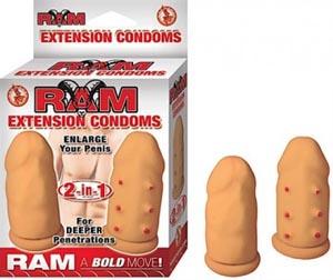 Ram Extension Condoms - Flesh