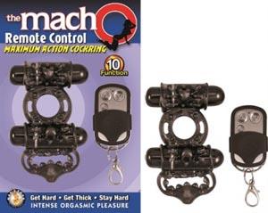 The Macho Remote Control Cockring - Black