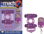 The Macho Remote Control Cockring - Purple