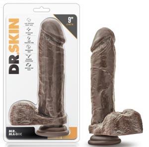Dr. Skin - Mr. Magic - 9 Inch Dildo - Chocolate