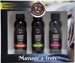 Massage a Trois - Massage Lotion 3 Pack
