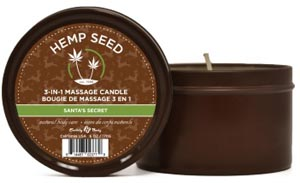 Santa's Secret Candle With Hemp - 6 Oz.