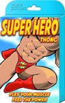 Super Hero Thong - One Size - Black